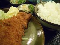 ロースかつ定食@おかむら